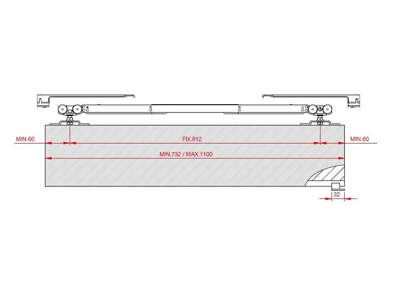 ролики для раздвижных дверей с доводчиком