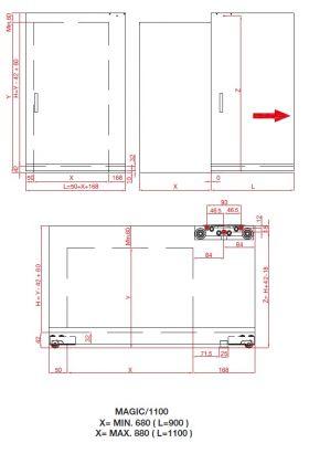 Скрытый раздвижной механизм Magic Vetro 1100/4