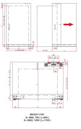 Скрытый раздвижной механизм Magic Vetro 1100/3